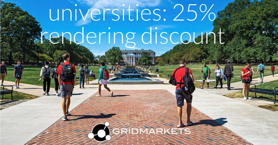 2021Aug26: Are you an .edu or student looking to render?  Hear what BYU and Texas A&M say about GridMarkets.com.