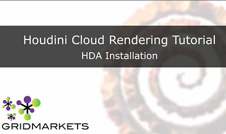 HDA install - Houdini cloud rendering houdini render farm