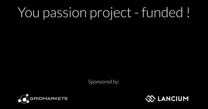 2020Sep10: Lack funding to render a passion project? Check out our Relief Program.""