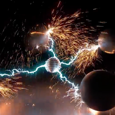 Marc Woodall ~ Particle Motion Blur Simulation