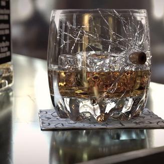 Nicolas Heluani's Whiskey glass destruction