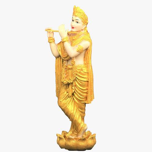 Golden Finish Lord Krishna Statue