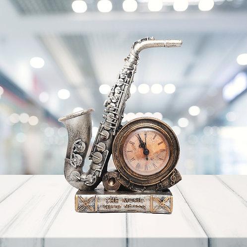 Vintage saxophone Showpiece with Clock