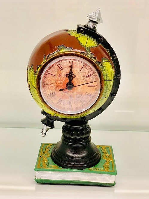 Style Antique Globe Clock Showpiece