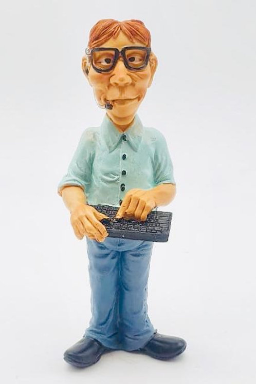 Smart Looking Man With keyboard in Hand Showpiece