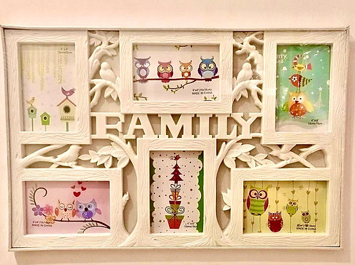 """""""Family"""" Photo Frame with 6 Photo Slots"""