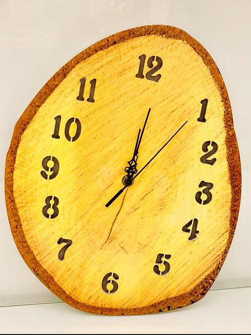 Antique Brown Yellow colour Wooden Finish Clock
