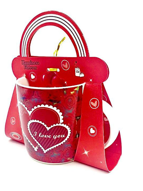 "Giftable ""Love"" Mug in Transparent Gift Box - Mixed design"