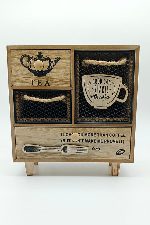 Tea and Coffee Sachet Keeping Cabinet