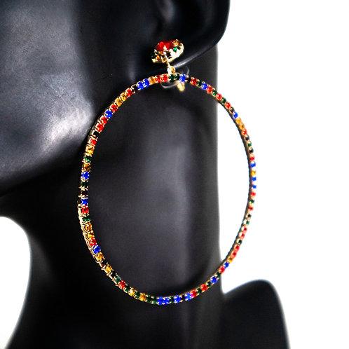 Multicolored Hoops Earrings