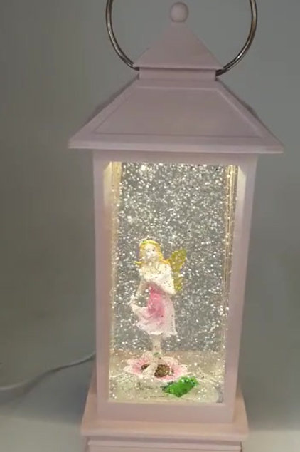 Beautiful Pink colour Free Spirit lady Lantern With sparkles & Light