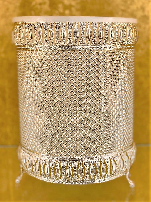 Elegant Waste Paper Basket Silver colour