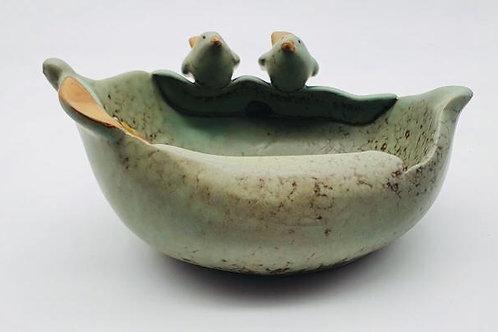 Antique Green colour leaf & Birds Showpiece