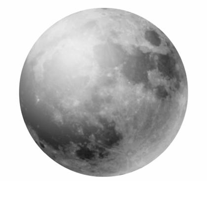 Grand Sticker Lune Grise ou Or