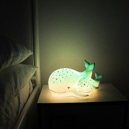 Jolie lampe veilleuse Baleine et bébé océan merveilleux