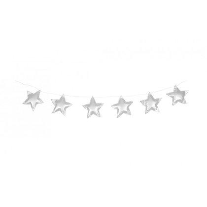 Guirlande d'étoiles merveilleuses argent