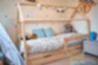 Lit cabane maison avec tiroir chambre enfant montessori monlitcabane lit cabane bois