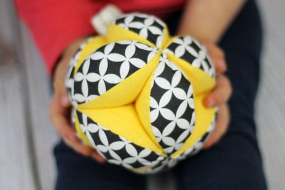 Balle de préhension Montessori Jaune & noir