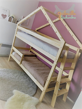 Option réhausse du lit inférieur pour lit Maison à étage
