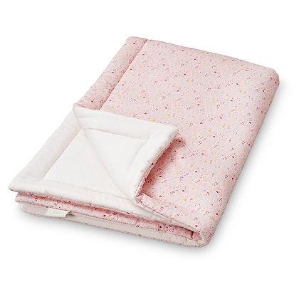 Edredon couverture moelleuse CamCam Rose fleuri
