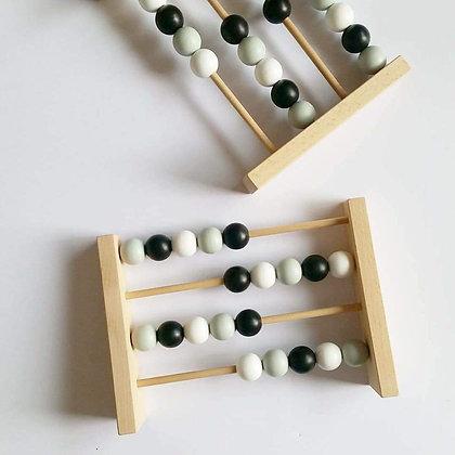 Boulier en Bois Montessori Noir& Blanc