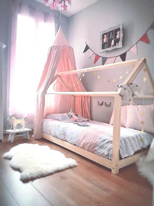 magnifique ciel enchant la couleur poudr pour crer un ciel de lit un espace de lecture une tente crera sans aucun doute un merveilleux cocon - Ciel De Lit Fille