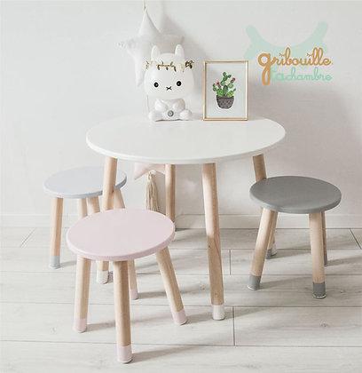 Petite table ronde à personnaliser