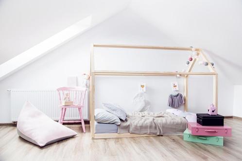 cadre maison au sol 160 x 200cm esprit montessori sans sommier mobilier et d coration pour. Black Bedroom Furniture Sets. Home Design Ideas