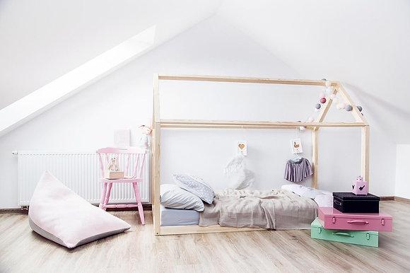 Cadre Maison au sol 90x140cm ou 190cm ou 200cm Esprit Montessori sans sommier