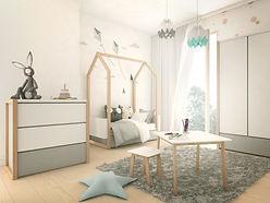 Chambre cabane Maison de bébé contour design évolutif junior