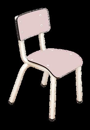 Chaise d'écolier maternelle Little Suzie rose poudré