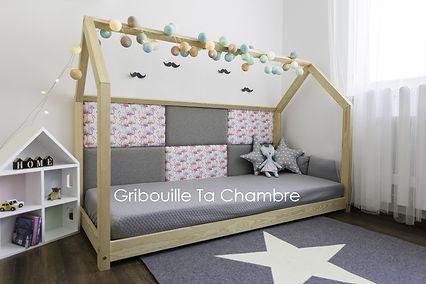 lit cabane maison montessori enfant bébé mur douillet panneaux muraux