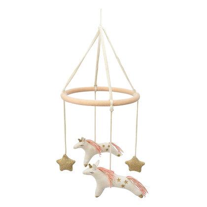 Joli mobile Licornes en tricot