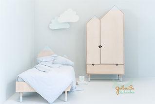 lit enfant junior armoire cabane déco design montagne Mont Blanc