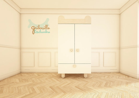 Armoire Teddy blanche