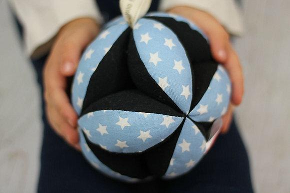 Balle de préhension Montessori Bleu étoiles