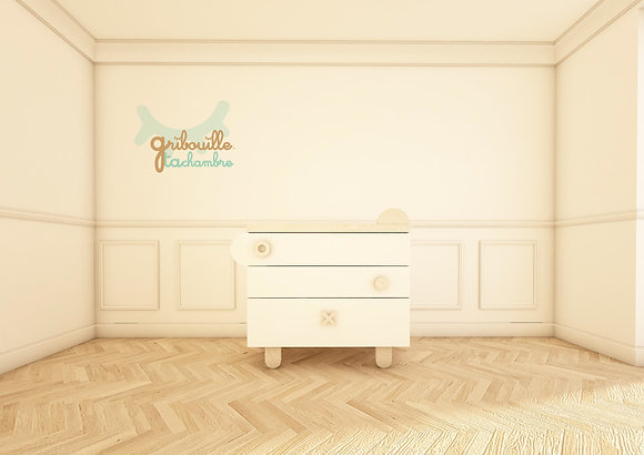 Commode Teddy blanche