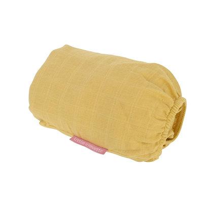 Drap housse en lange moutarde pour lit bébé
