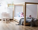 lit cabane maison enfant bébé montessori au sol chambre fille garçon