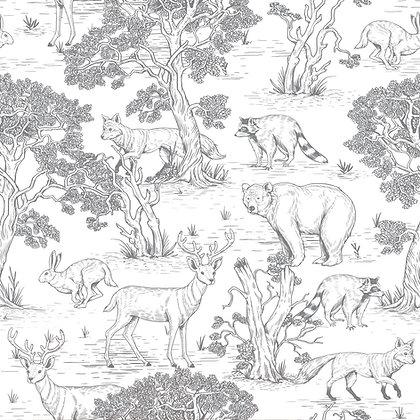 Papier peint Animaux Naturel ou Noir & blanc