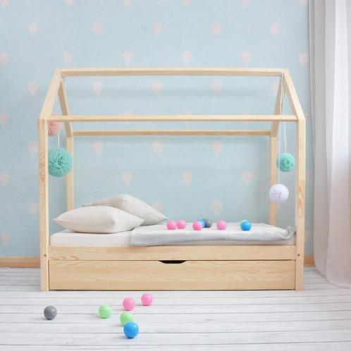 Lit cabane avec tiroir gigogne gribouille ta chambre
