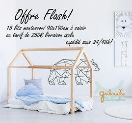 Lit cabane Maison 90x190cm Express livraison rapide mon lit cabane lit enfant bois bebe