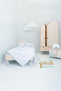 Lit Junior chambr armoir design cabane Mont Blanc
