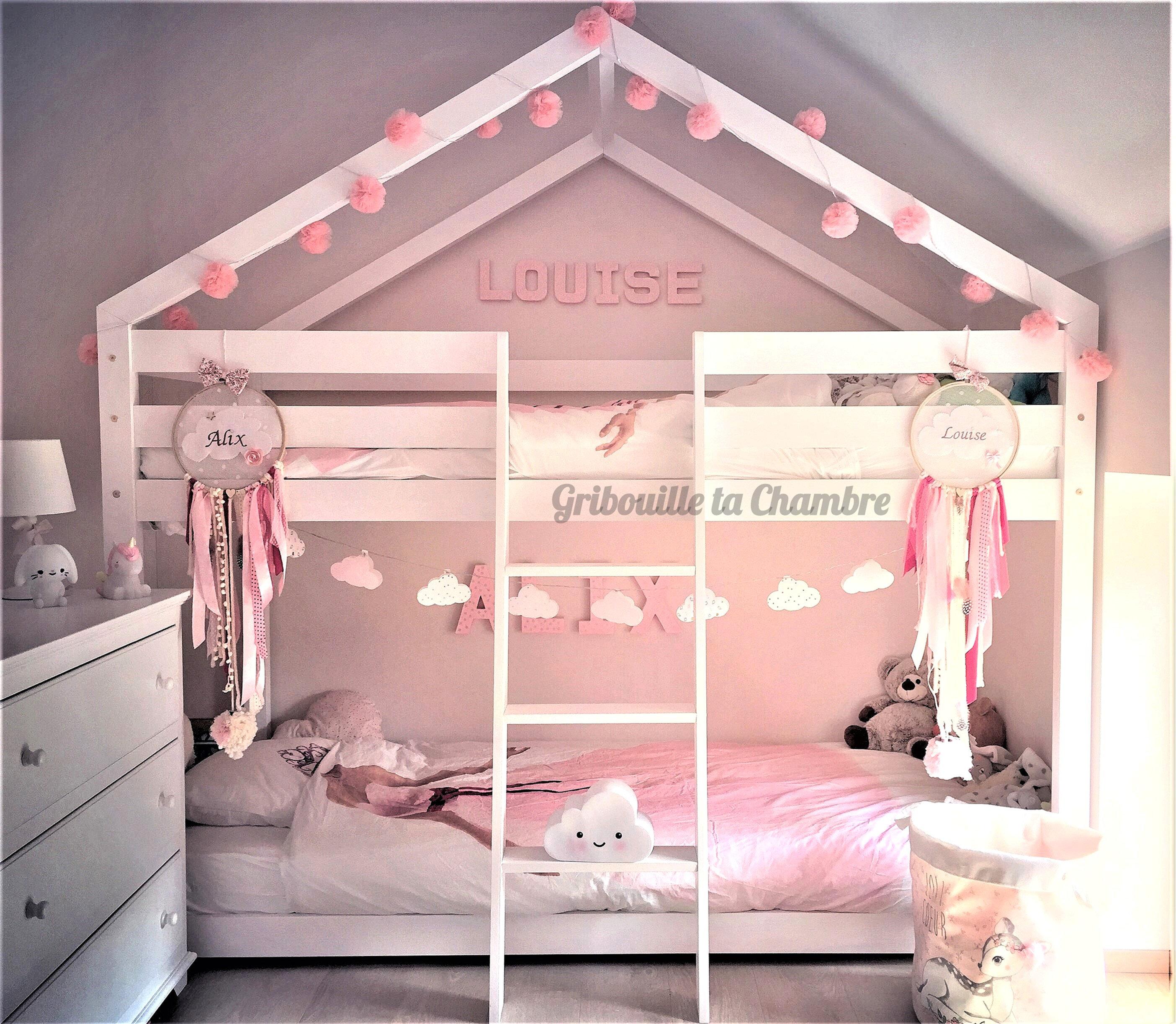 Chambre Lit Cabane Fille lit maison à étage à partir de