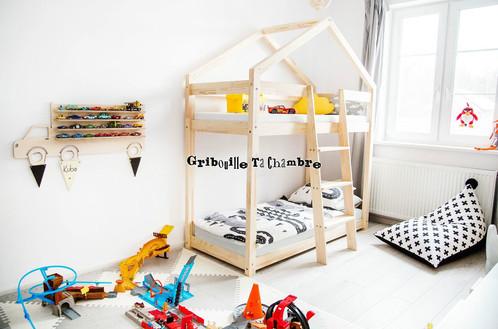 lit cabane superpos gribouille ta chambre lit cabane d co gribouille ta chambre. Black Bedroom Furniture Sets. Home Design Ideas