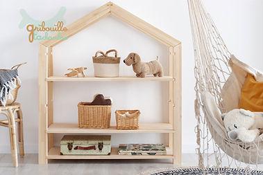 Etagère cabane maison montessori motricité libre