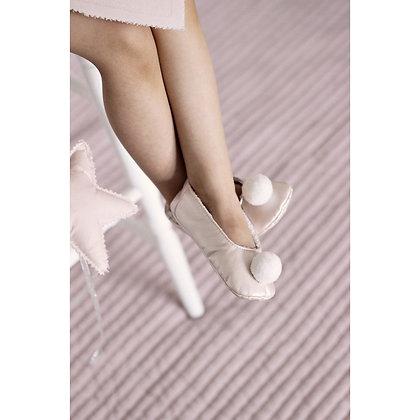 Petits chaussons merveilleux poudré rose du 14 au 31