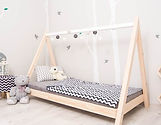 lit cabane tipi indien maison enfant bébé montessori au sol chambre fille garçon