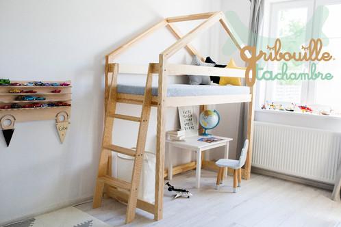 lit cabane mezzanine gribouille ta chambre lit cabane france gribouille ta chambre. Black Bedroom Furniture Sets. Home Design Ideas