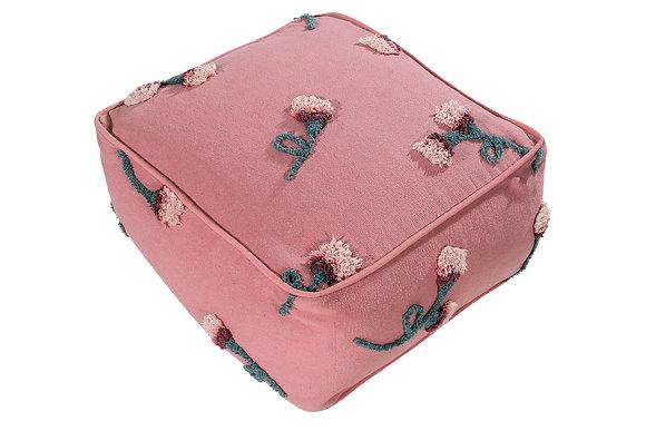 Pouf Jardin anglais rose lavable Lorena Canals 140x210